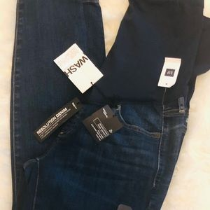 Gap Maternity 2R True Skinny Blue Jean Pants New